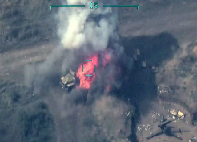 Several more enemy military vehicles were destroyed -VİDEO