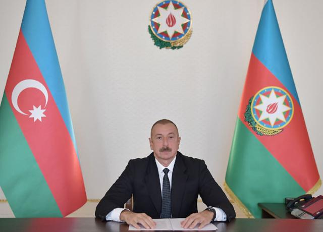 "Ilham Aliyev made speech in a video format at a meeting of Heads of State and Government on ""Financing the 2030 Agenda for Sustainable Development in the Era of COVID-19 and Beyond"" -PHOTO=2+VİDEO"