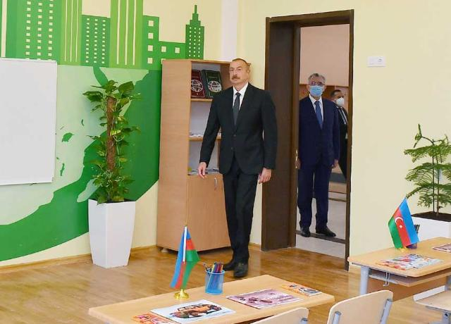 Ilham Aliyev inaugurated secondary school No.154 in Amirjan settlement PHOTO+VİDEO=21
