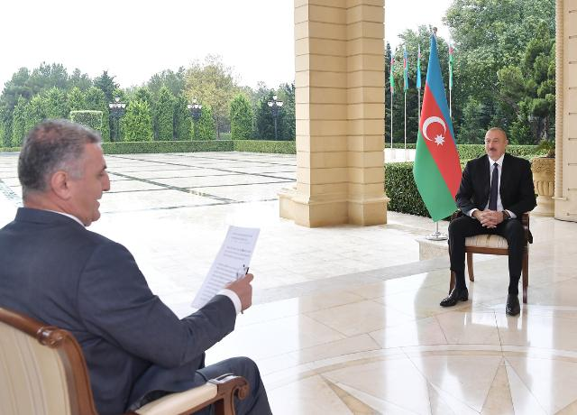 Ilham Aliyev was interviewed by TRT Haber TV channel