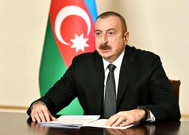 President of the Republic of Azerbaijan Ilham Aliyev addressed the Special Session of UN General Assembly in response to COVID 19 pandemic at the level of heads of state and government in a video format.