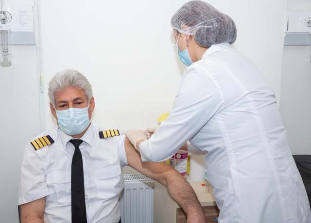 AZAL Employees Aged 50 and over Vaccinated against COVID-19 - POTO